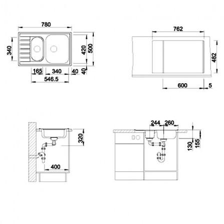 Blanco Livit 6 S Compact Мойка 515117 сталь полированная