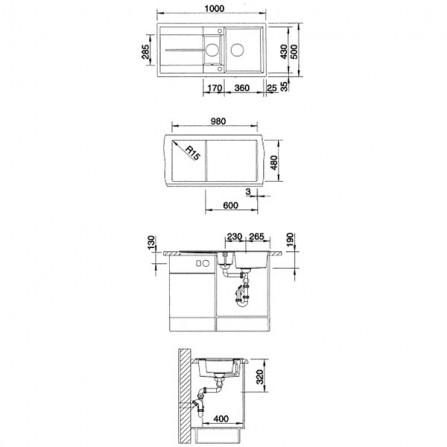 Blanco Metra 6 S Мойка 520577 жемчужный