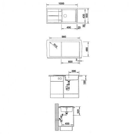 Blanco Metra XL 6 S Мойка 520581 жемчужный