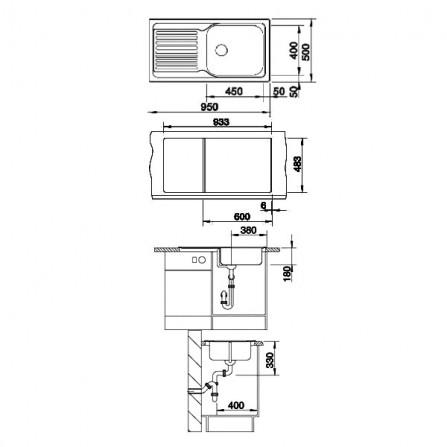 Blanco Tipo XL 6 S Мойка 511908 сталь полированная