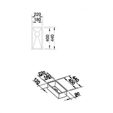 Blanco Zerox 180-IF Мойка 521566 сталь зеркальная