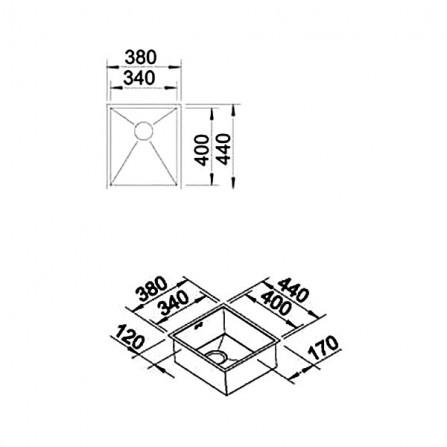 Blanco Zerox 340-IF Мойка 521582 сталь зеркальная