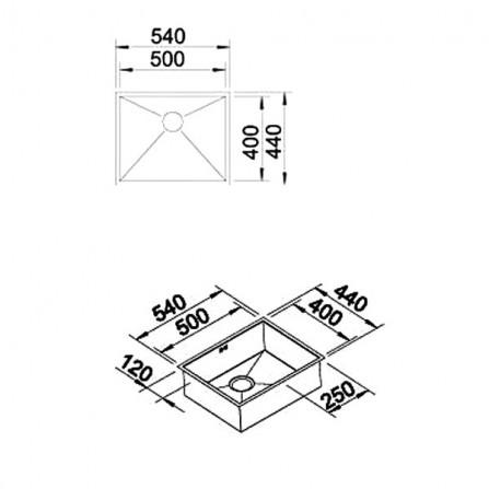 Blanco Zerox 500-IF Мойка 521588 сталь зеркальная
