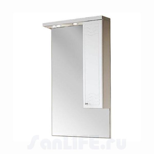 Акватон Домус 65 Зеркало со шкафчиком правое 1A008202DO01R
