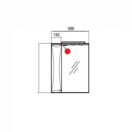 Акватон Джимми 57 Зеркало со шкафчиком левое 1A034002DJ01L