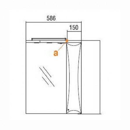 Акватон Джимми 57 Зеркало со шкафчиком правое 1A034002DJ01R