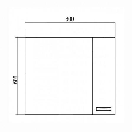 Акватон Диор 80 Зеркало со шкафчиком белое 1A168002DR01R