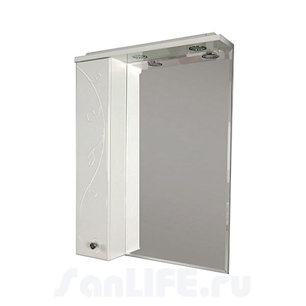 Акватон Лиана 65 Зеркало со шкафчиком левое 1A166202LL01L