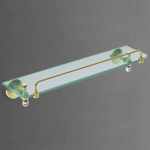 Art&Max Antic Crystal Полка стеклянная золото AM2682SJDo