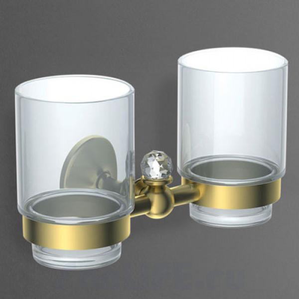 Art&Max Antic Crystal Стакан двойной золото AM-2688SJ-Do