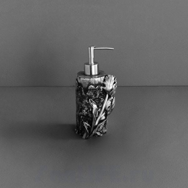 Art&Max Tulip Дозатор жидкого мыла настольный серебро AM-0082A-T