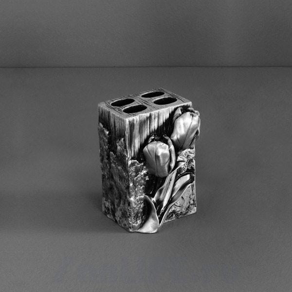 Art&Max Tulip Подставка для зубных щеток серебро AM-0082B-T