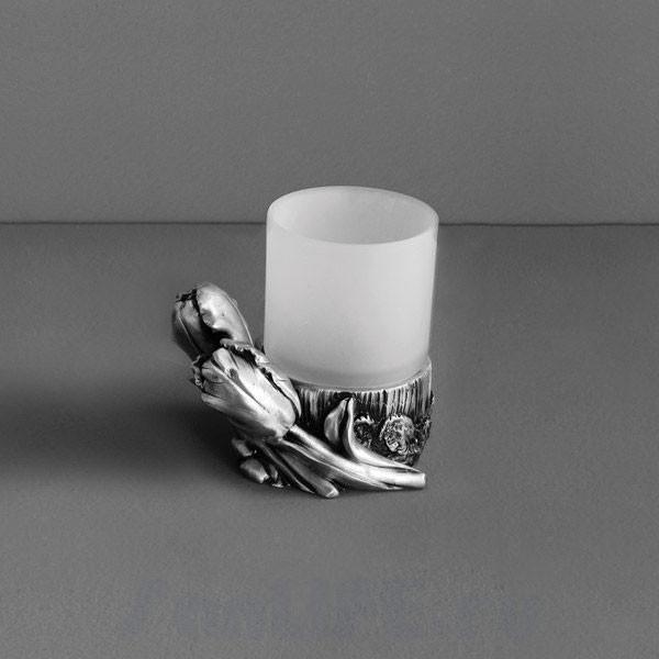 Art&Max Tulip Стакан настольный серебро AM-0082D-T