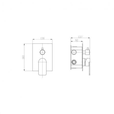 BelBagno Nova Смеситель для ванны встраиваемый (3)