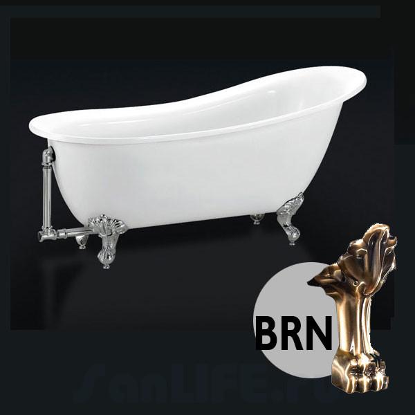 BelBagno BB06-1550 Ванна акриловая 155x76 BRN