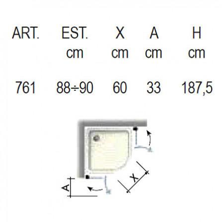 Box Docce 2B PIU Душевой уголок 900х900 мм 7610ASA0