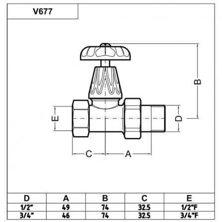 Carlo Poletti Artistic Вентиль верхний проходной бронза V67710MA