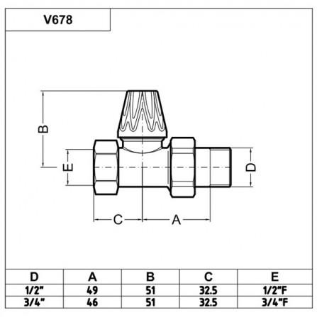 Carlo Poletti Artistic Вентиль нижний проходной бронза V67820MA