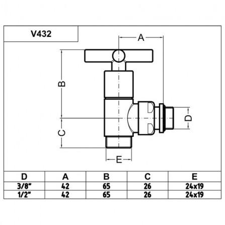 Carlo Poletti Minimalist Вентиль нижний угловой бронза V43210M
