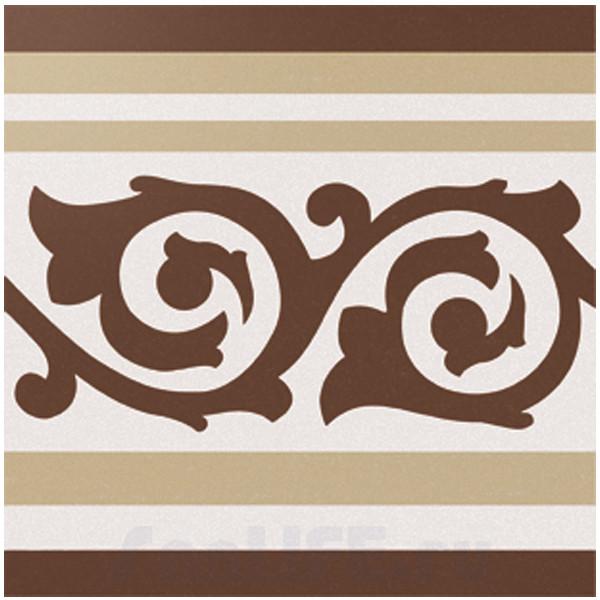 Cas Ceramica Anastasia Border Brown 20x20 Плитка напольная