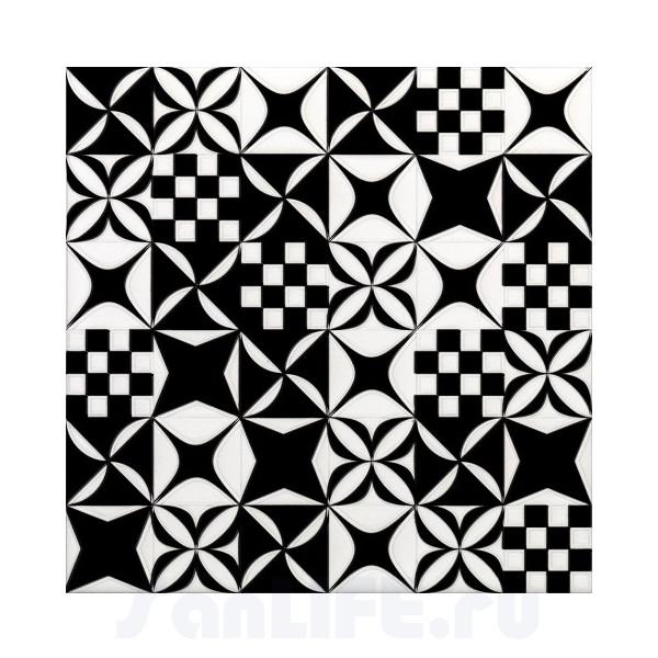 Cas Ceramica Black&White Mosaico Black&White Mix 20x20 Плитка настенная