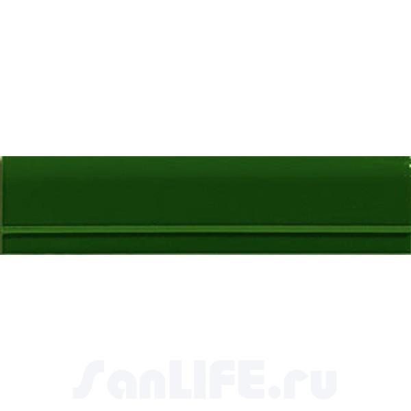 Cas Ceramica Moldura Plana Verde 7x28 Бордюр