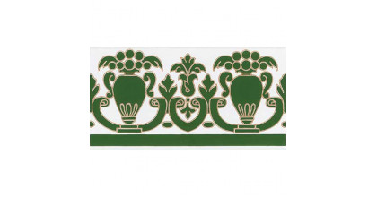 Cas Ceramica Triana Verde Cenefa 14x28 Плитка настенная