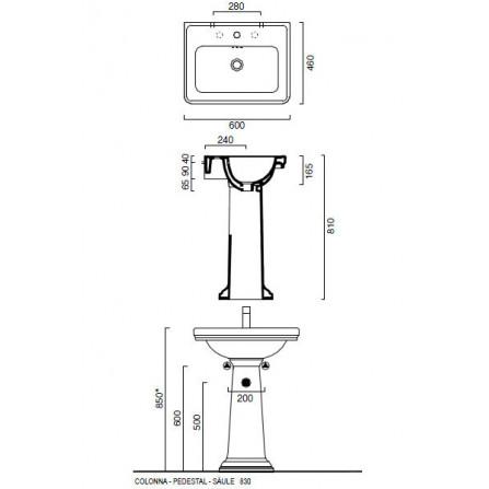 Catalano Canova Royal полотенцедержатель 5P60СV00