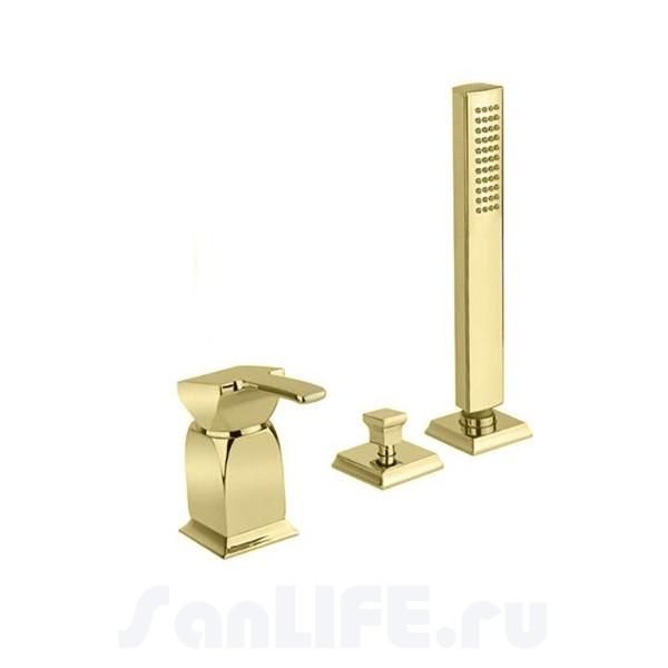 Cezares Legend BDM-03 Смеситель для ванны на 3 отверстия золото