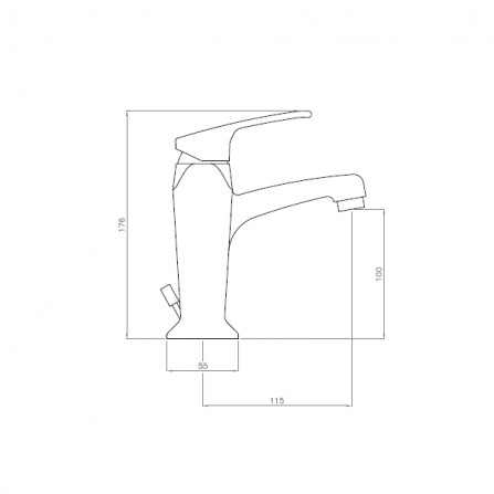 Cezares Legend LSM2-02 Смеситель для раковины бронза