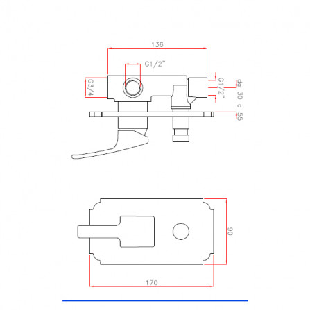 Cezares Legend VDIM-01 Смеситель для ванны встраиваемый хром