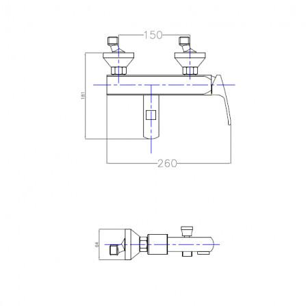 Cezares Legend VM-01 Смеситель для ванны хром