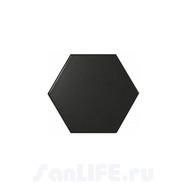 Equipe Scale Hexagon Porcelain Black matt 11,6x10,1