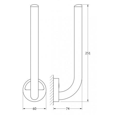 FBS Luxia LUX-021 Держатель запасных рулонов туалетной бумаги