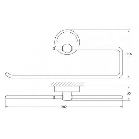 FBS Luxia LUX-023 Держатель бумажного полотенца