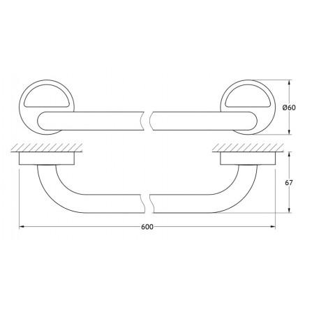 FBS Luxia LUX-032 Держатель полотенца 60 см