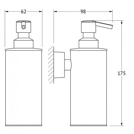 FBS Nostalgy NOS-011 Емкость для жидкого мыла (металл)