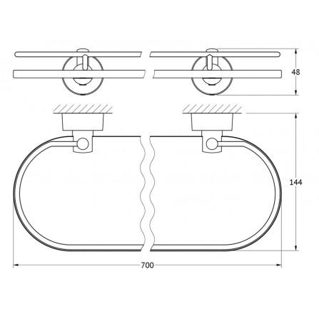 FBS Nostalgy NOS-017 Полка с ограничителем 70 см (стекло)