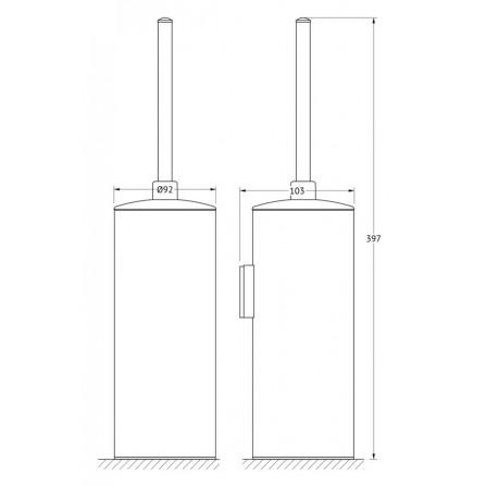 FBS Universal UNI-114 Ерш настенный крышкой (металл)