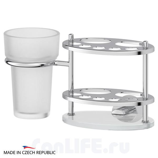FBS Vizovice VIZ-061 Держатель зубных щеток и пасты со стаканом (стекло)