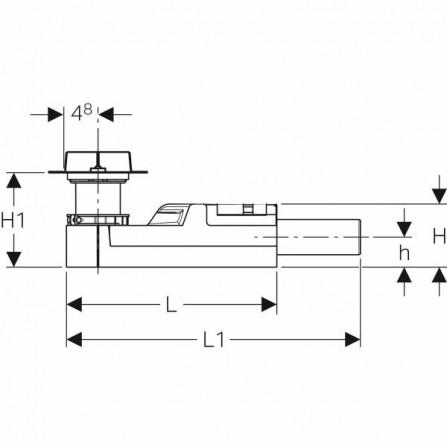 Geberit CleanLine Монтажный комплект, высота стяжки для напольного стока 65–90мм: d=40мм 154.152.00.1