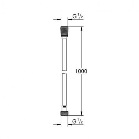 Grohe Шланг Silverflex 1,0 м 26334 000