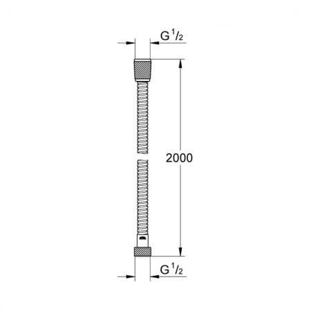 Grohe Шланг 2 м металл 28145 000