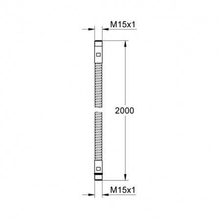 Grohe Шланг 2 м металл M15xM15 28146 000