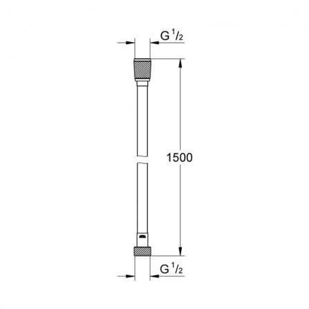 Grohe Шланг Silverflex 1,5 м 28364 000