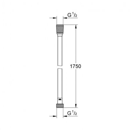 Grohe Шланг Silverflex 1,75 м 28388 000