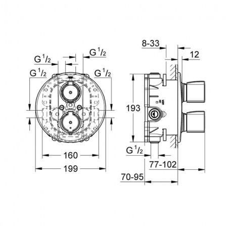 Grohe Rapido T Механизм термостата 35500 000