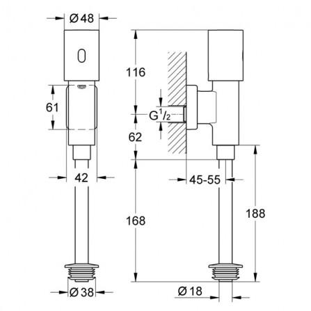 Grohe Tectron Rondo Инфракрасная электроника для писсуара 37421 000