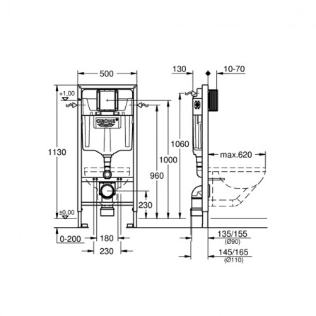 Grohe Rapid SL Инсталляция для унитаза 38528 001