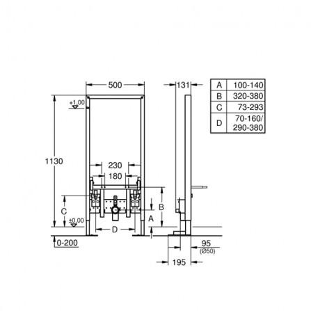 Grohe Rapid SL Инсталляция для биде 38581 001